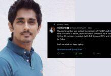 actor siddharth gets threat calls