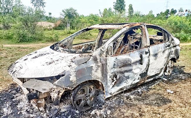 bjp leader burnt car